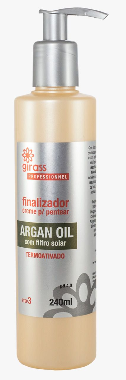 Finalizador Argan Oil Girass 240ml