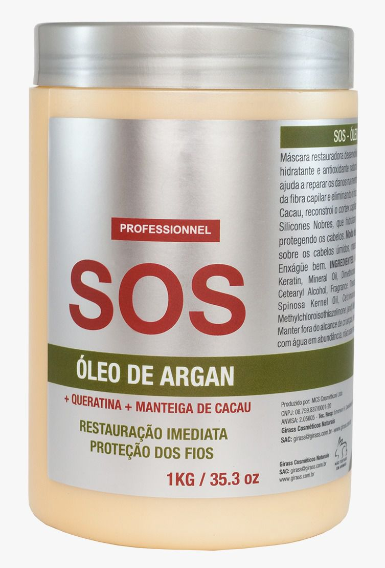 SOS Argan Oil Girass 1000g