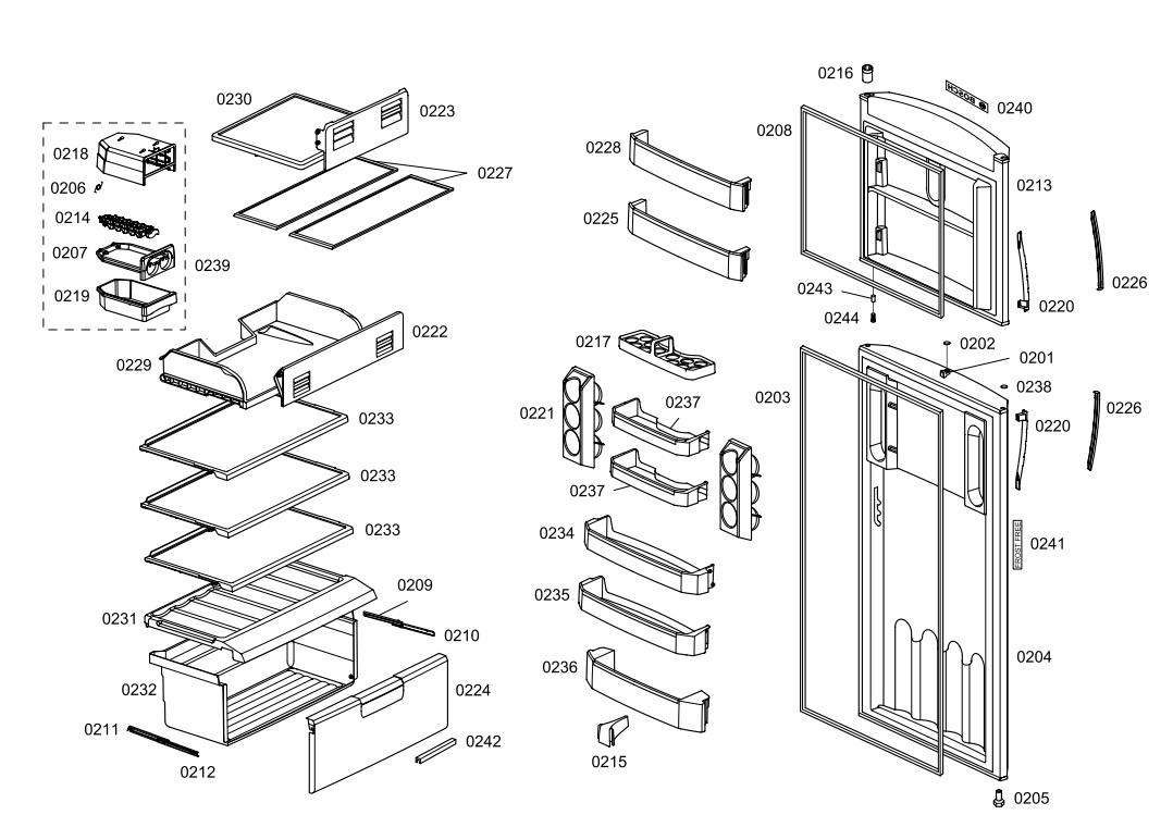 Forma De Gelo Twister Refrigerador Bosch, Continental & Mabe 492382