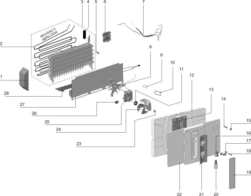 Resistência Degelo 127V Evaporador Electrolux Di80 Df80 Dt80x