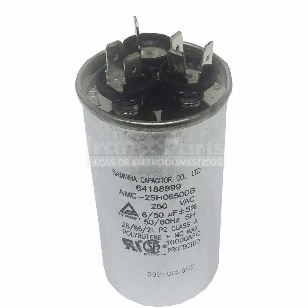 Capacitor Ar Condicionado 50 + 6Uf X 250Vac Electrolux