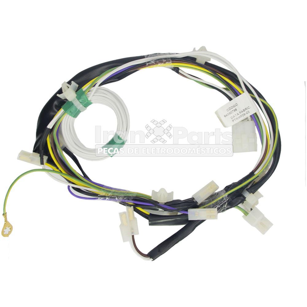 Rede Eletrica Inferior Lavadora Lm06  Original 64590798
