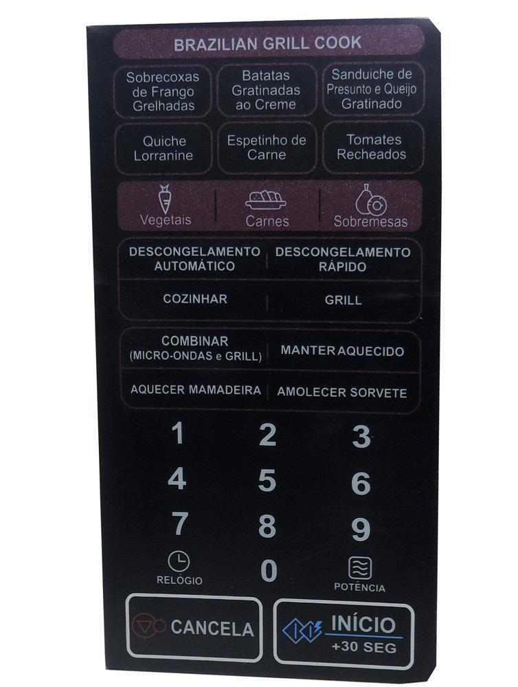 Membrana Forno Microondas Lg Mh 7047 Brazilian Mfm 62077001