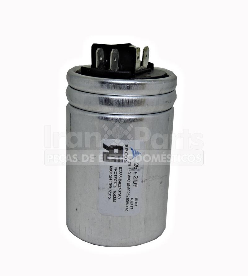 Capacitor Partida Do Motor Ar Condicionado 20 + 2Uf 440Vac