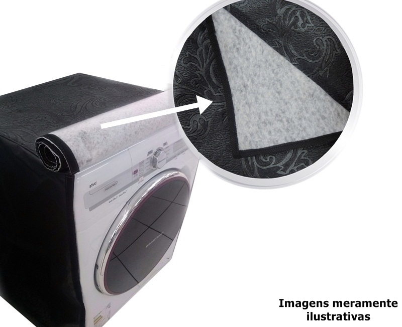 Capa Cinza Para Lava E Seca Lg F1103Rdt 10.5Kg