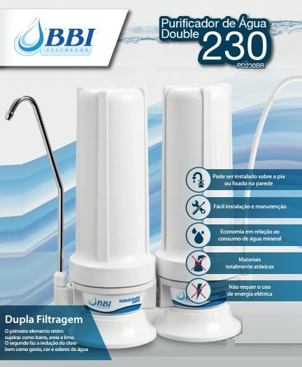 Filtro Purificador Duplo Bbi Double 230 Tipo Hoken Pentair