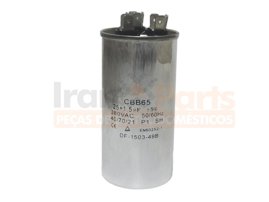 Capacitor Duplo Ar Condicionado Lg 25+1.5Uf +- 5% 380 Vac