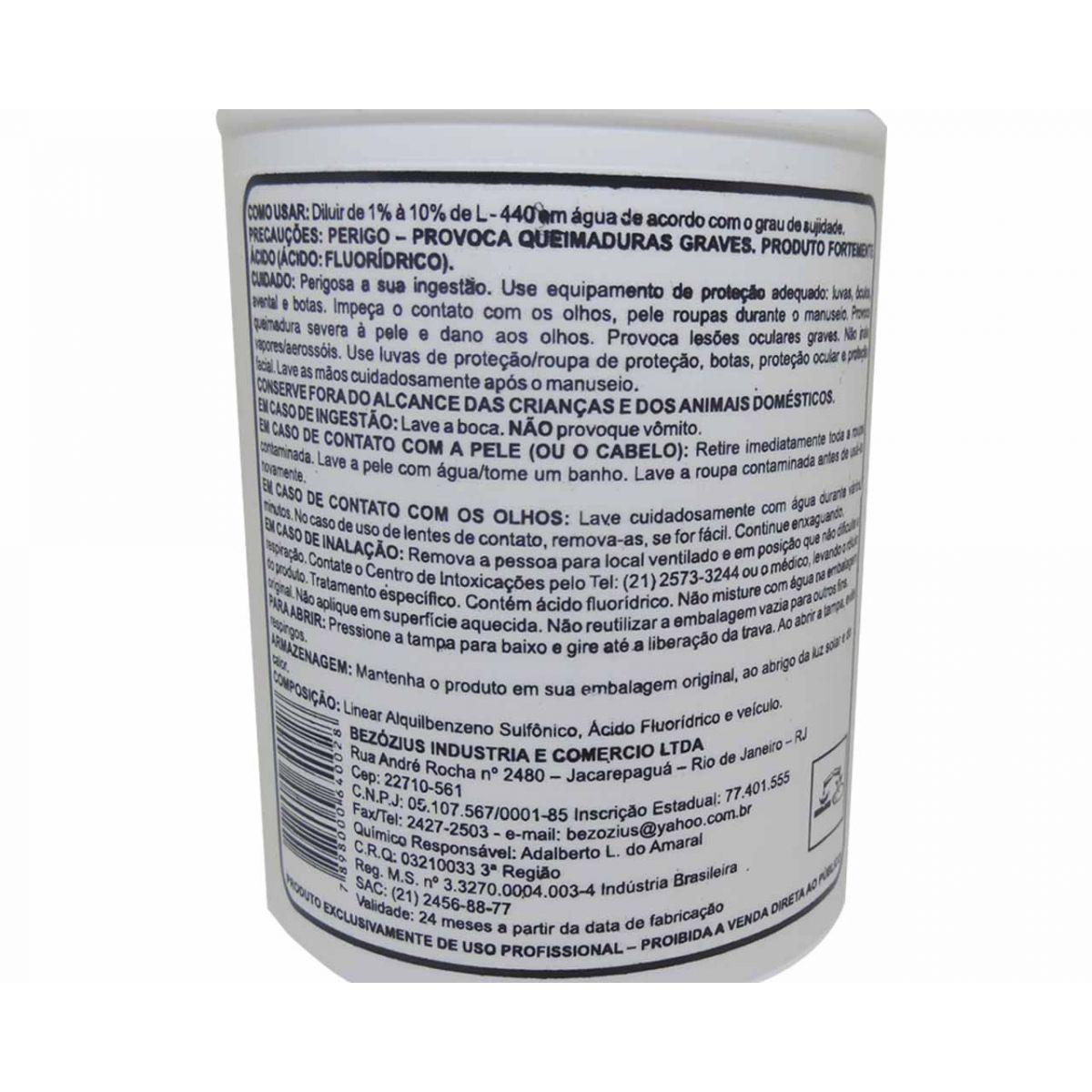 Detergente Desincrustante Ácido L-440 Para Ar Condicionado