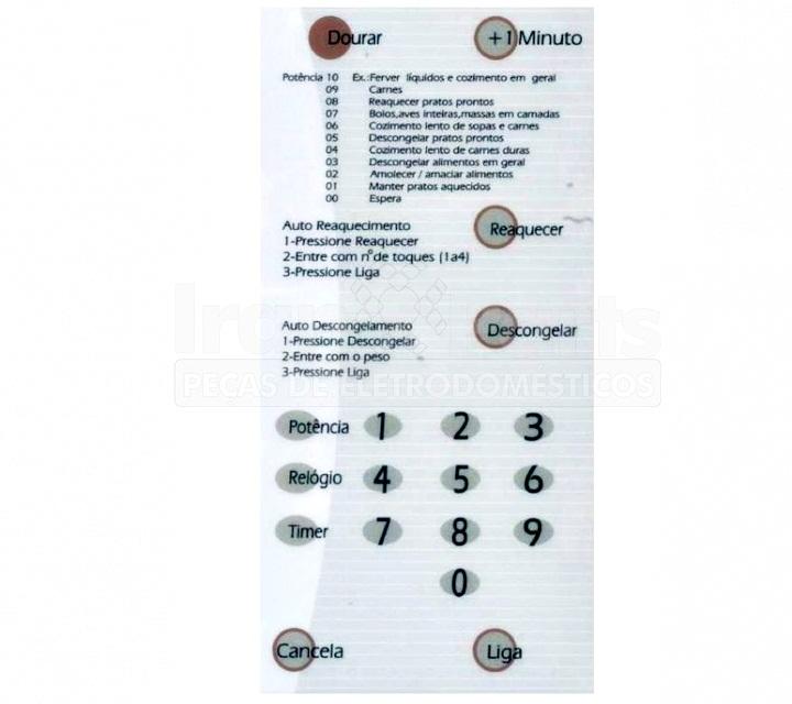Membrana Maior Compatível Microondas Brastemp Bmp42 Com Dourar