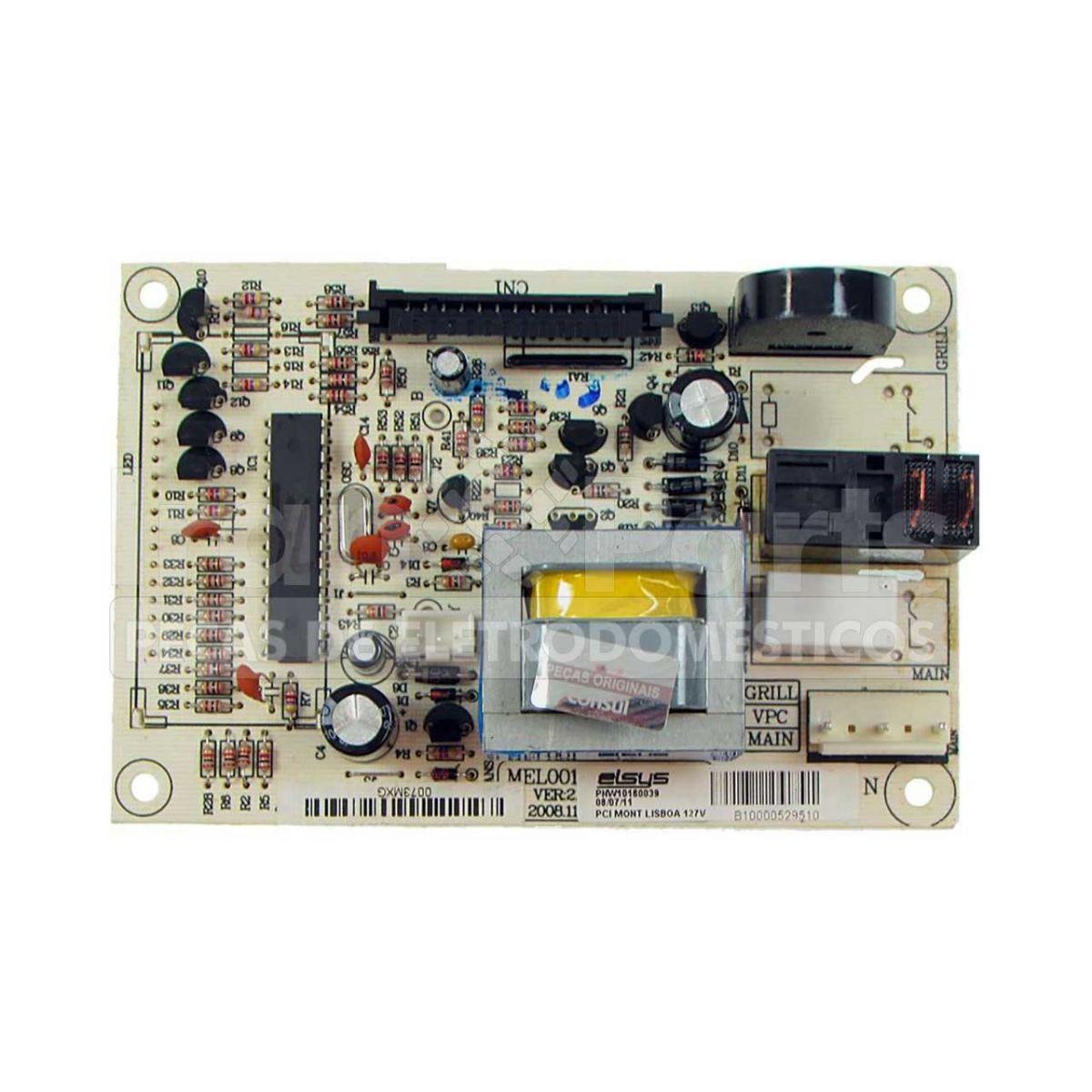 Placa Controle 127V Microondas Brastemp Bms35Bb