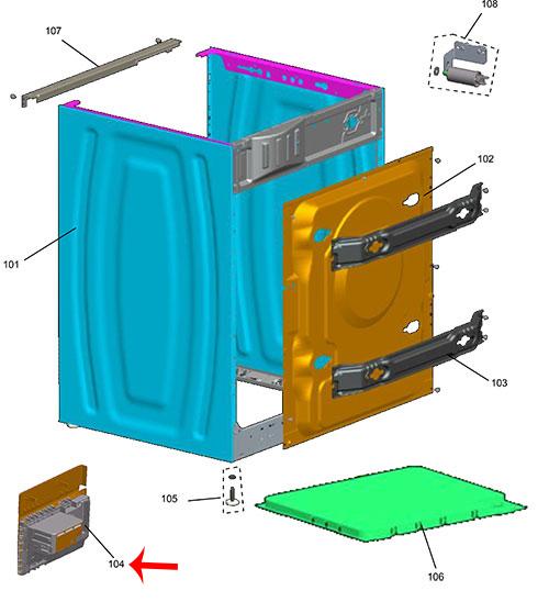 Placa Controle Eletronico Lava E Seca Brastemp W10487311