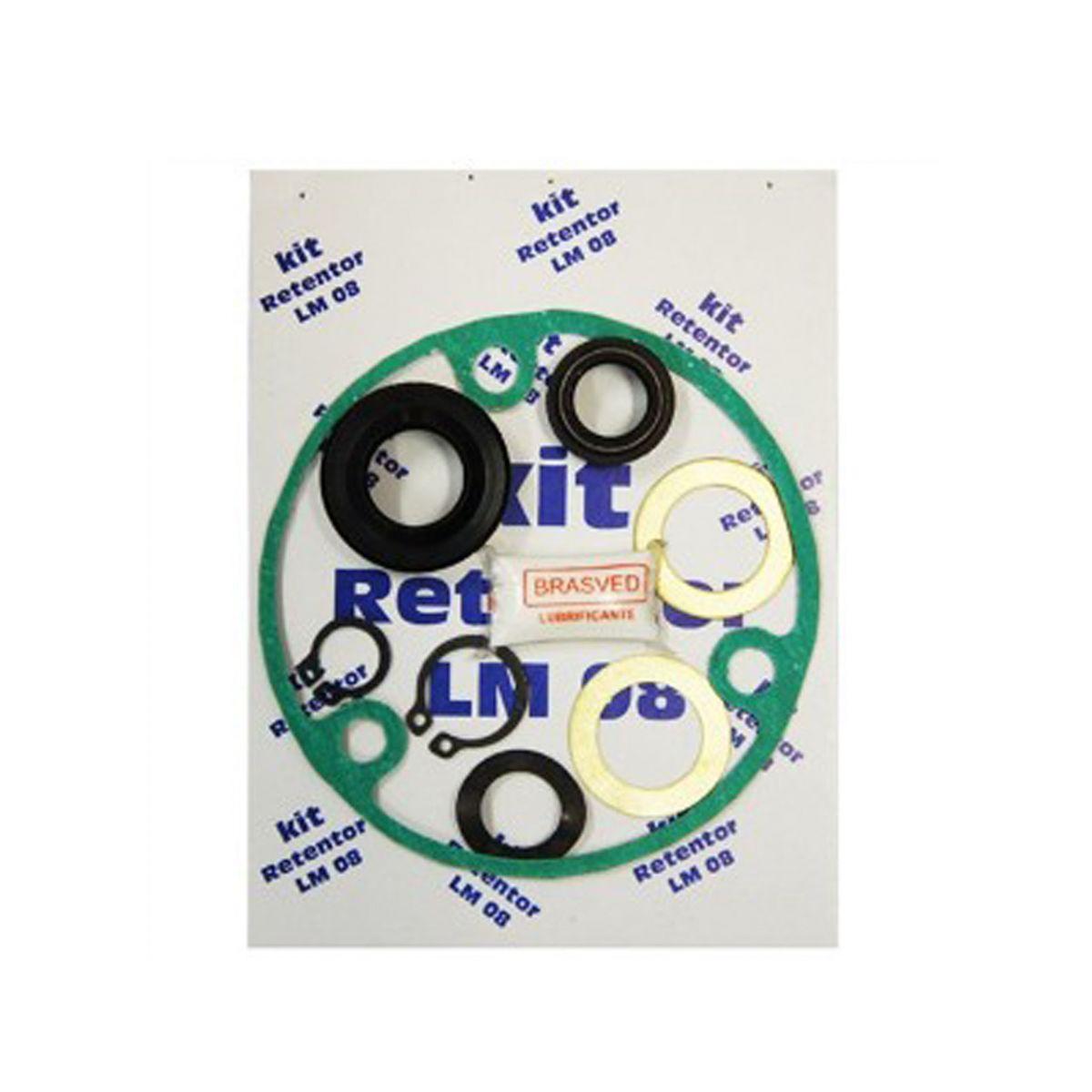 Kit Retentor Cambio P/ Lavadora Electrolux Lm08 LTE09 LTE12 LTC10 LF90 LTR10