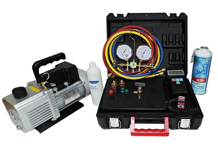 Kit Ferramentas De Refrigeração Automotiva Manifold Bomba