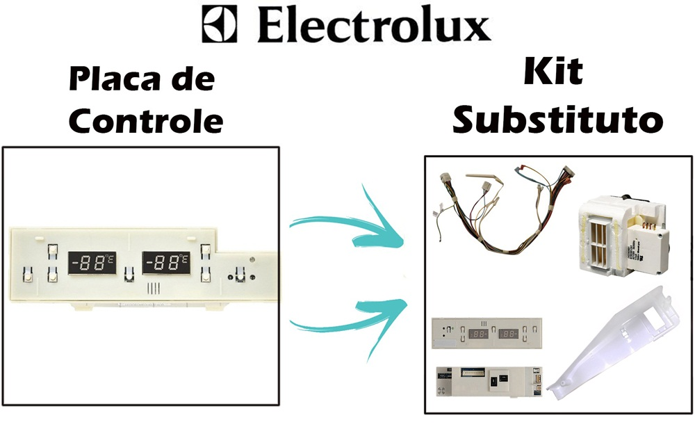 Kit Placa Controle Refrigerador Side By Side Original 41739707