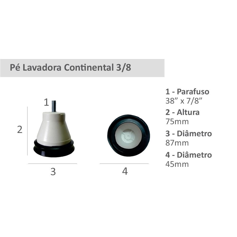 Pé Lavadora Continental 3/8 1818