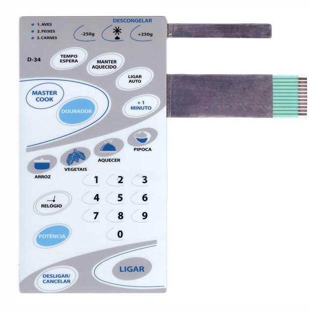 Membrana Forno Microondas Cce D34 Com Dourar