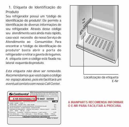 Dobradiça Intermediaria Central Refrigerador Dako Redk380