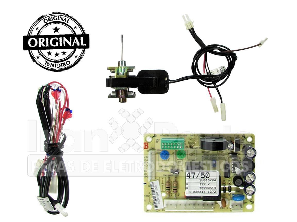 Kit Placa  Sensor Geladeira Electrolux Df46 Df49 127V