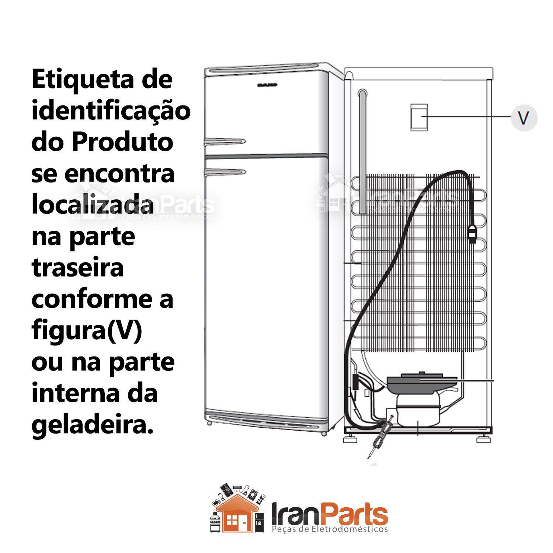 Borracha Gaxeta Inferior Refrigerador CCE Dako 330 340 DU330 DR340