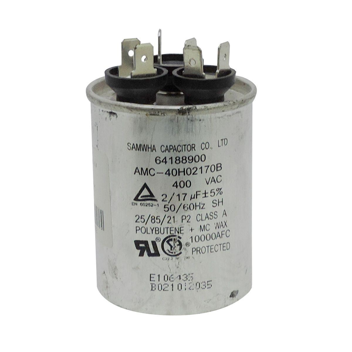 Capacitador Ar Condicionado 17+2Uf X 400Vac