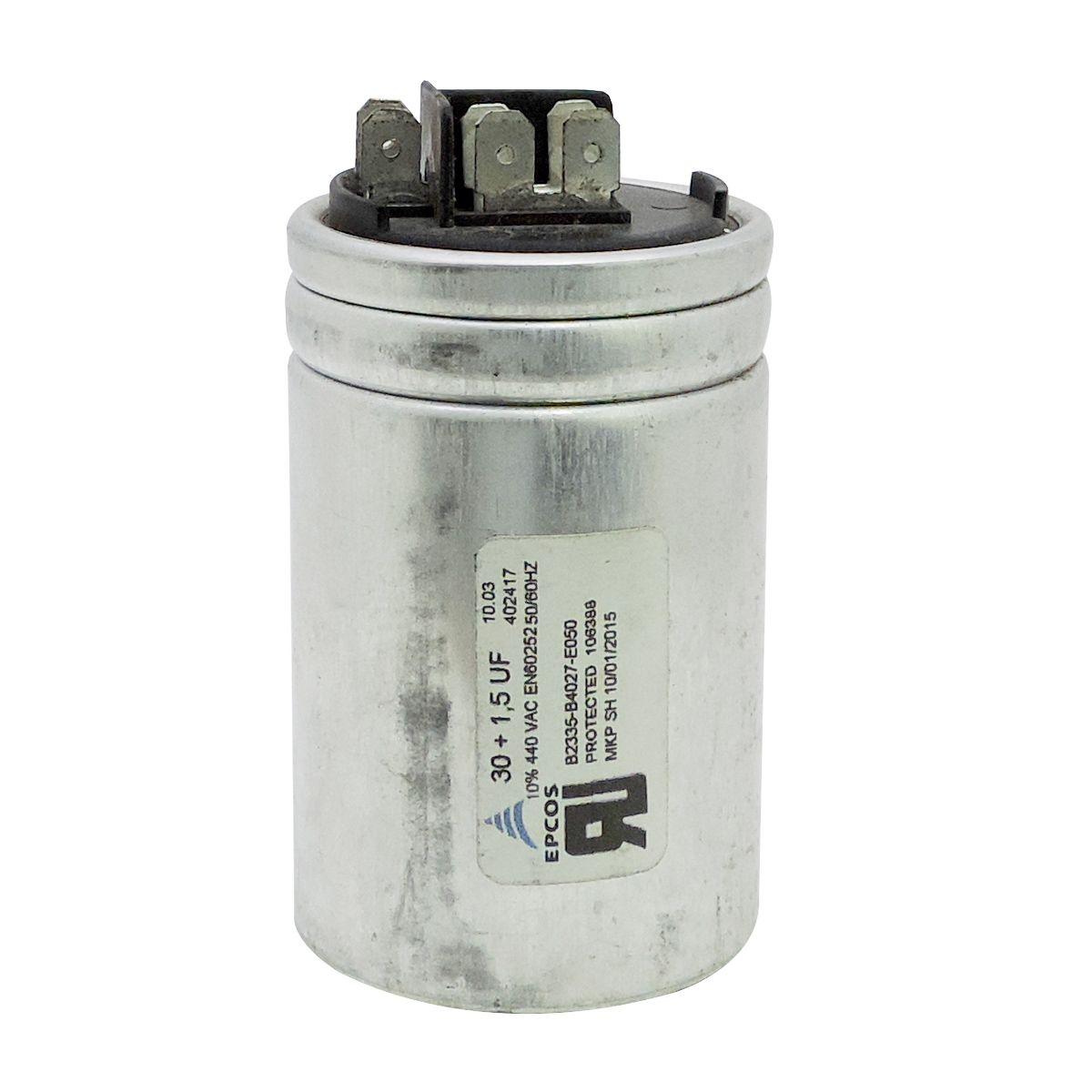 Capacitor Partida 30 + 1,5uf ±5% 440vac Epcos p/ Ar Condicionado