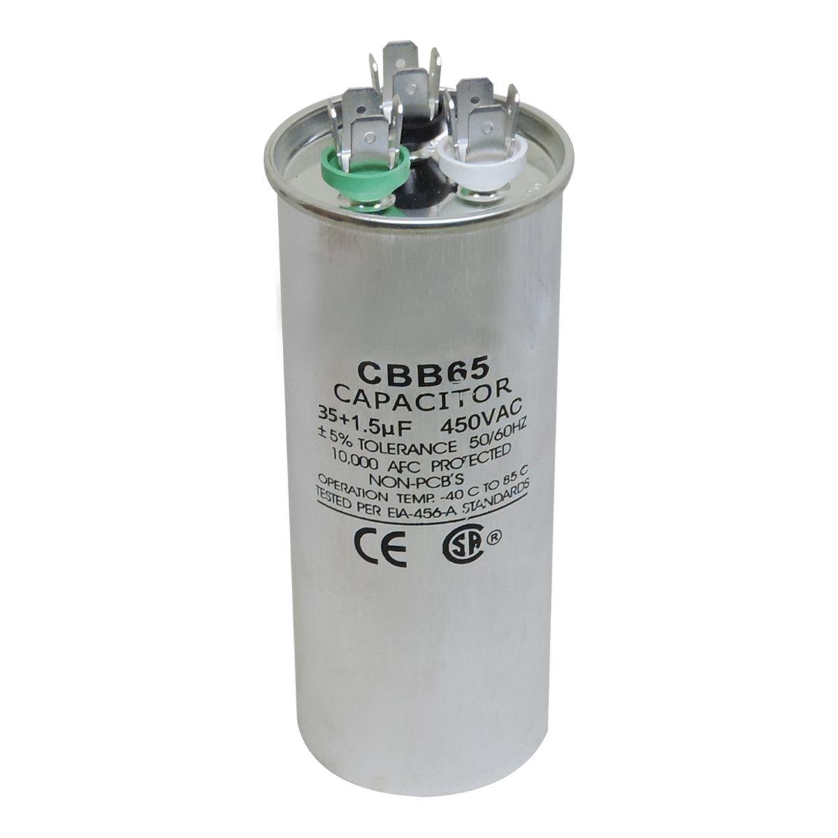 Capacitor Partida 35 + 1,5uf ±5% 450vac Para Ar Condicionado