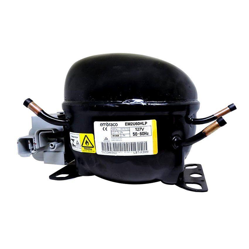 Compressor Em2U60Hlp 127V 1/5 R134A Refrigerador Electrolux