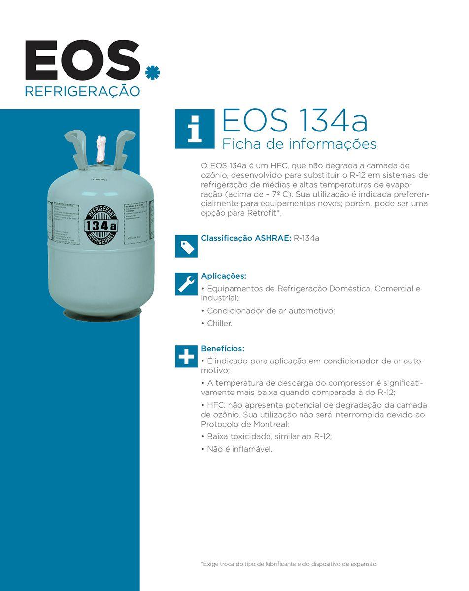 Gás Refrigerant EOS R134A Botija 13,6Kg