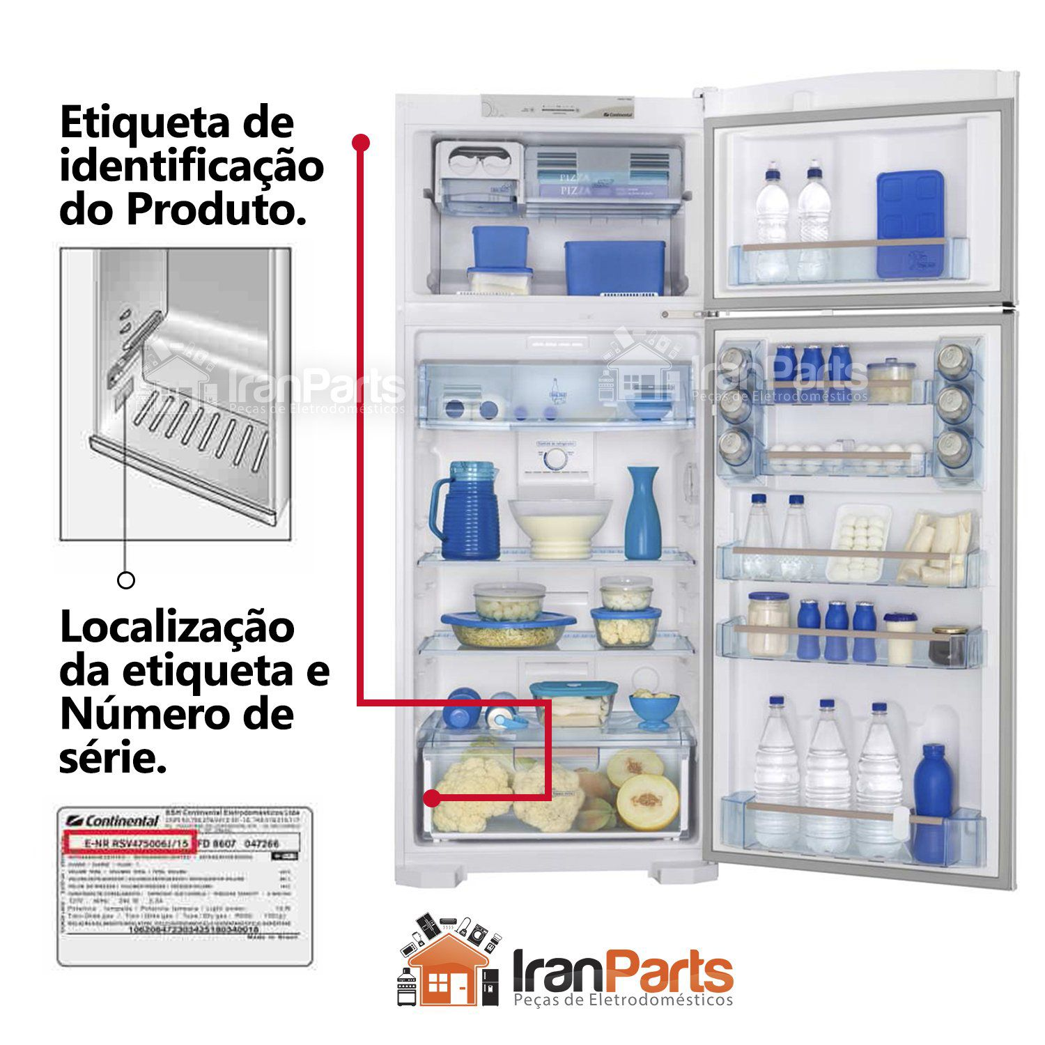 Gaxeta Borracha Porta Inferior Bosch Continental 68x122