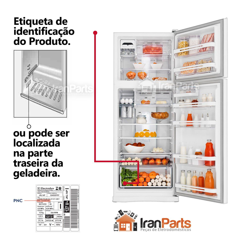 Gaxeta Borracha Porta Refrigerador Electrolux RFE39 58x148