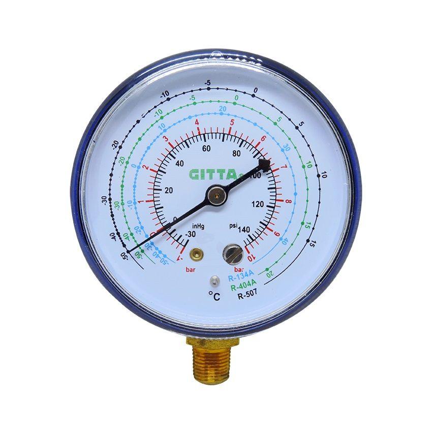 Manômetro De Baixa Pressão Refrigeração R12 R134a R404 R507