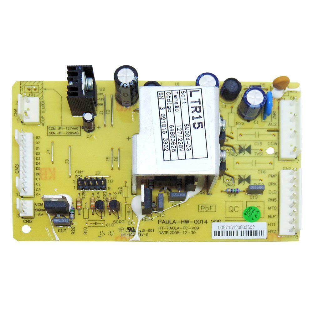 Placa Eletrônica Lavadora Electrolux LTR15 64800626