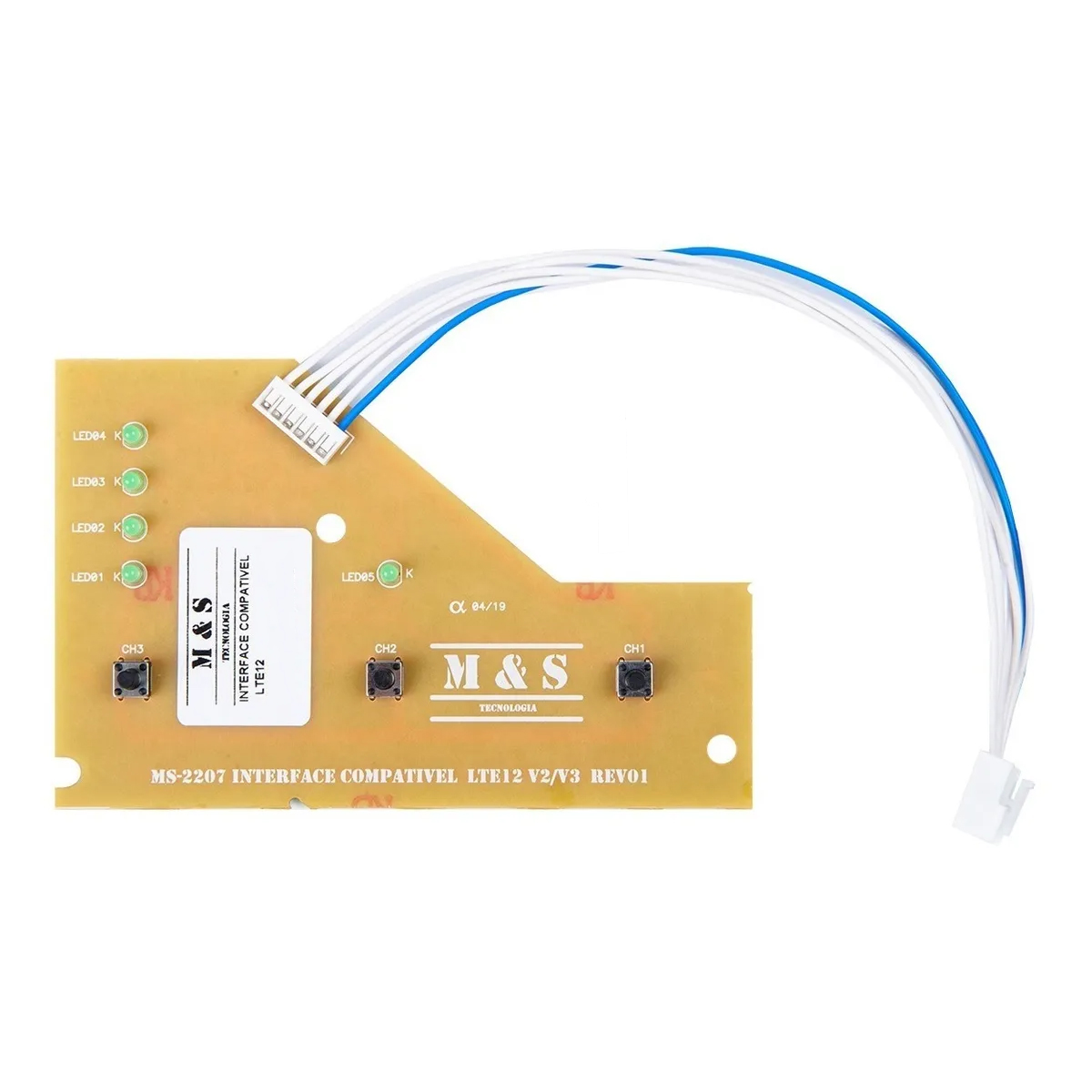 PLACA INTERFACE LAVADORA ELECTROLUX LTE12 64503081 LED AZUL M&S