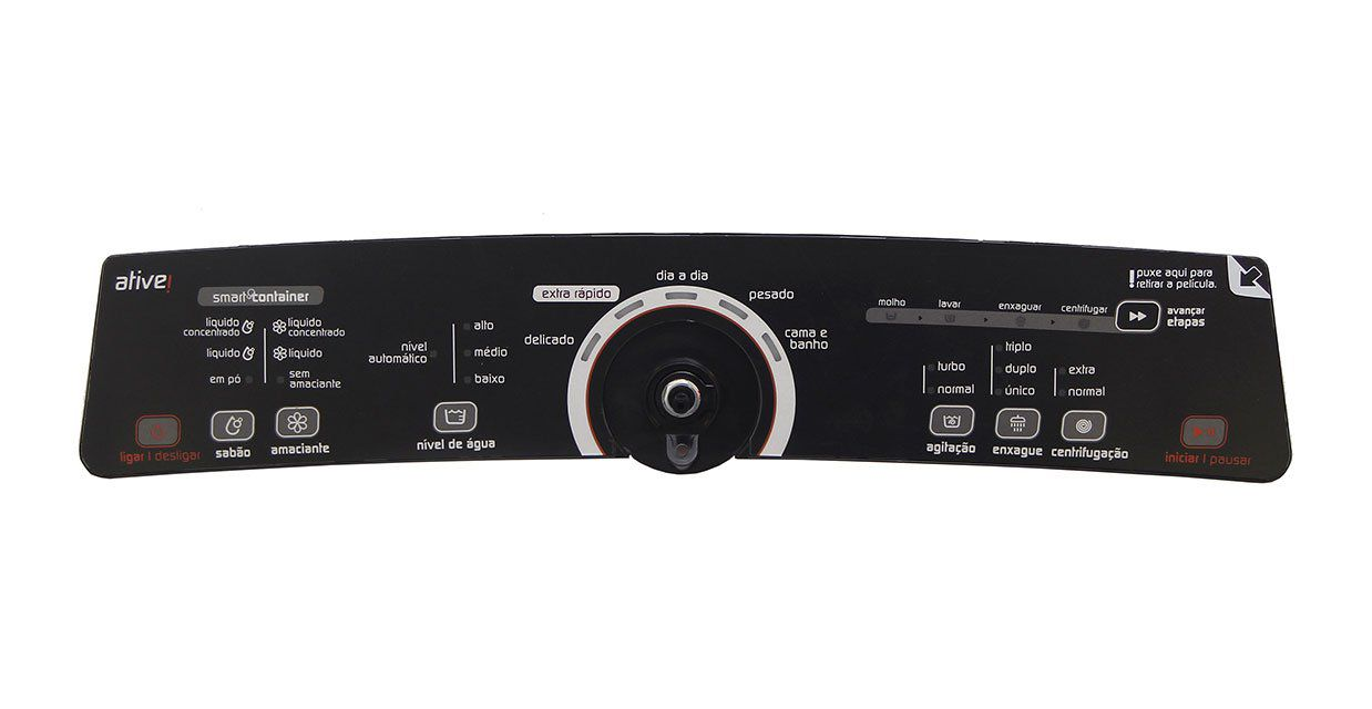 Placa Interface Preta Lavadora Brastemp W10463580