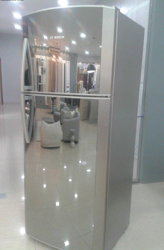 Porta Superior Do Freezer Espumada C/ Vidro Espelhado Kdn50