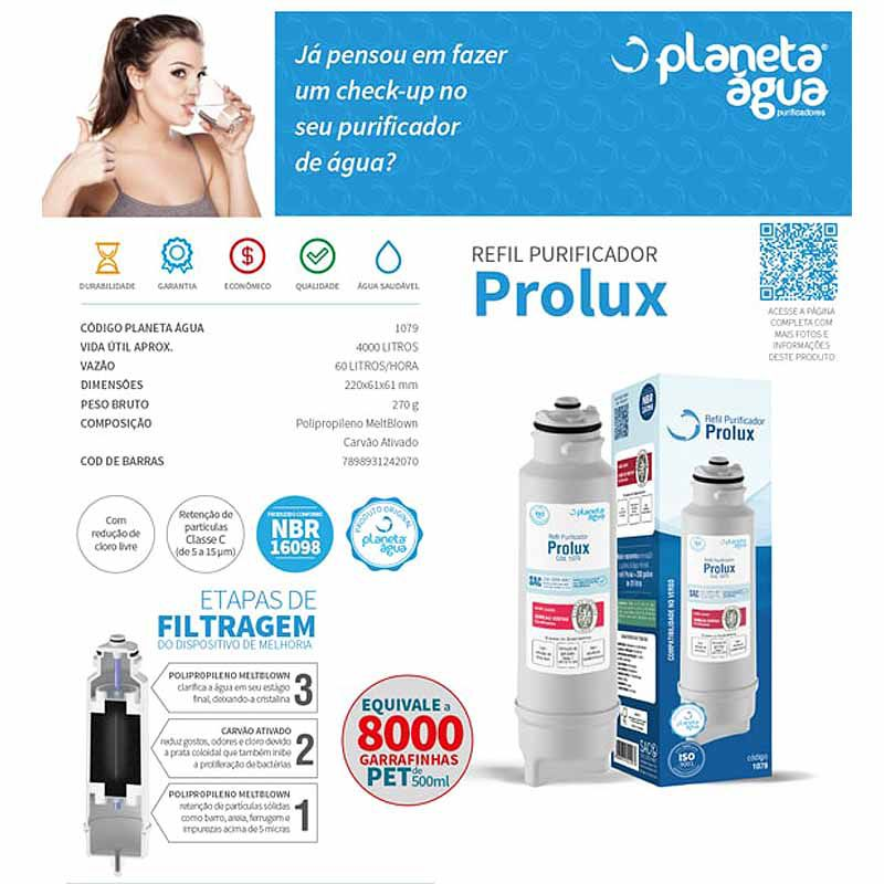 Refil Filtro Purificador Água Electrolux PA10 PA20 PA25 PA30 PA40