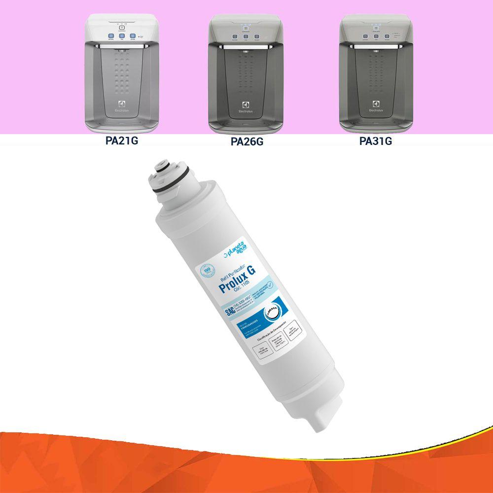Refil Filtro Purificador Água Electrolux Pa21G Pa26G Pa31G