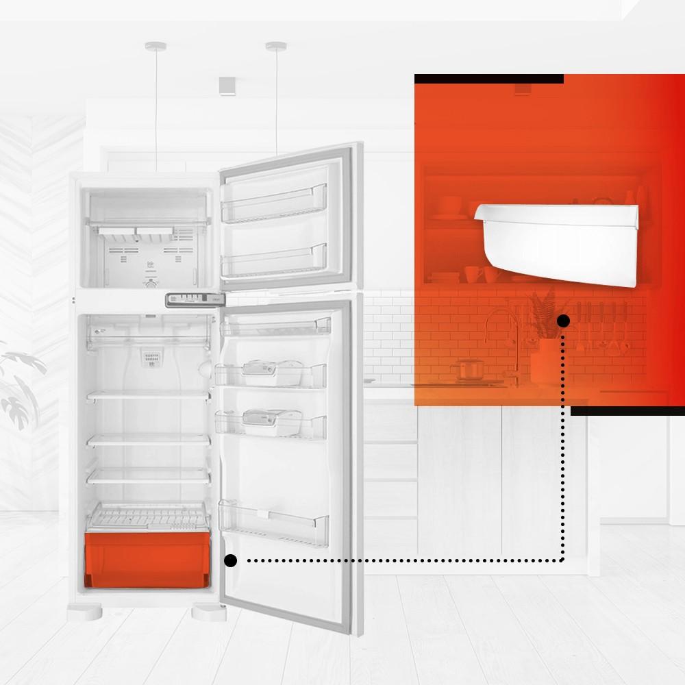 Tampa Frontal Da Gaveta De Legumes Refrigerador Brastemp