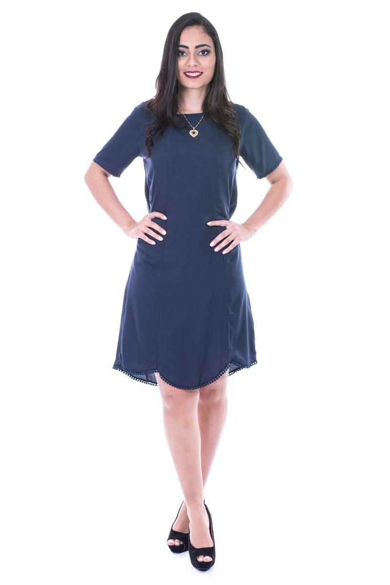 Vestido Modaris Marinho 34071