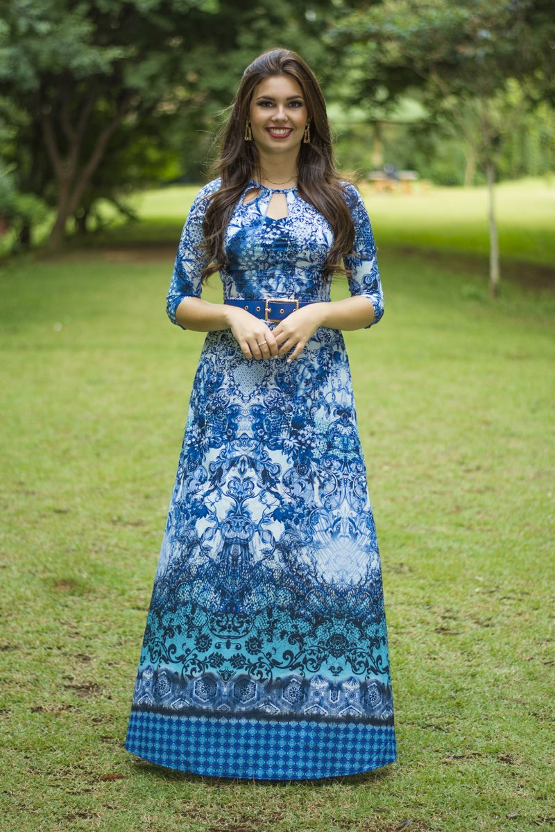 Vestido azul Simone SC12