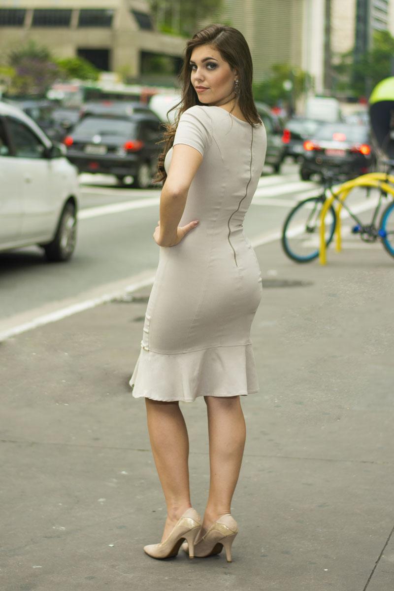 Vestido nude Karine SC16
