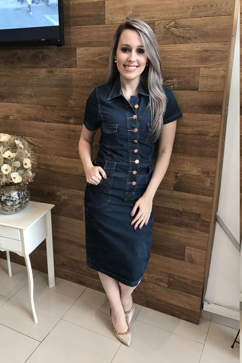 Vestido Jeans Monica Saia Bella 319219