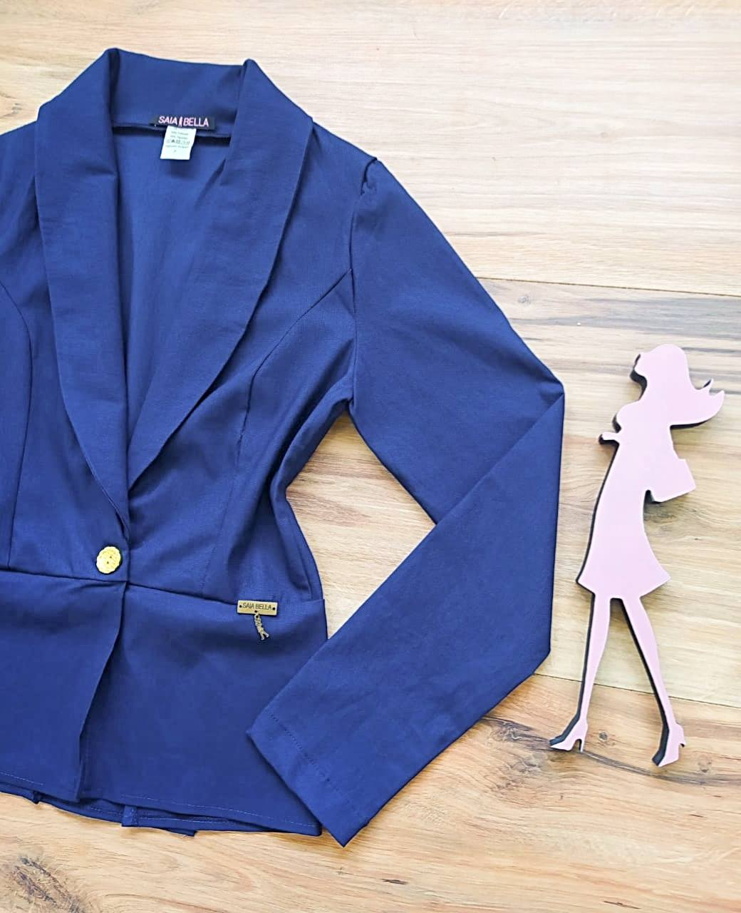 Blazer Renata Saia Bella SB3862 Azul Royal