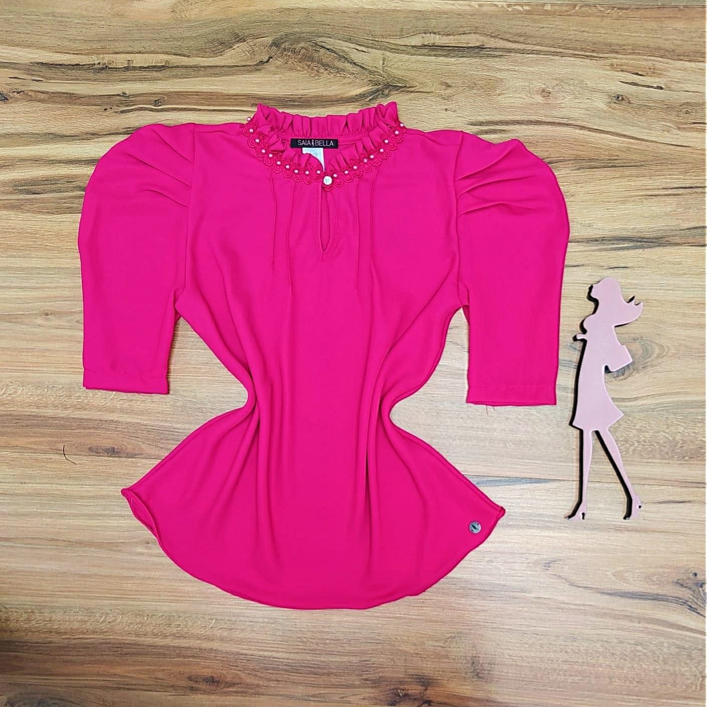 Blusa Amber de Renda Saia Bella - SB5132 - Pink