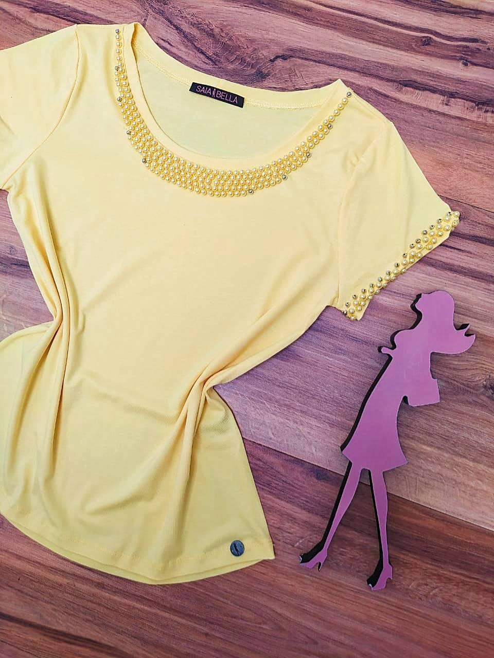 Blusa Analice  Saia Bella - SB4125655 Amarelo