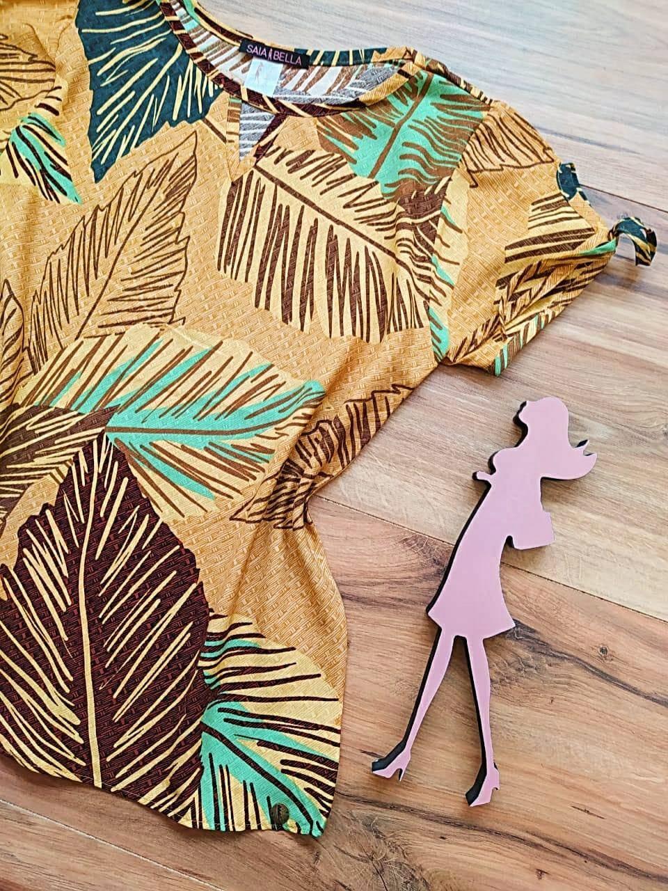Blusa Aquarela Estampada Saia Bella - SB2713 - D
