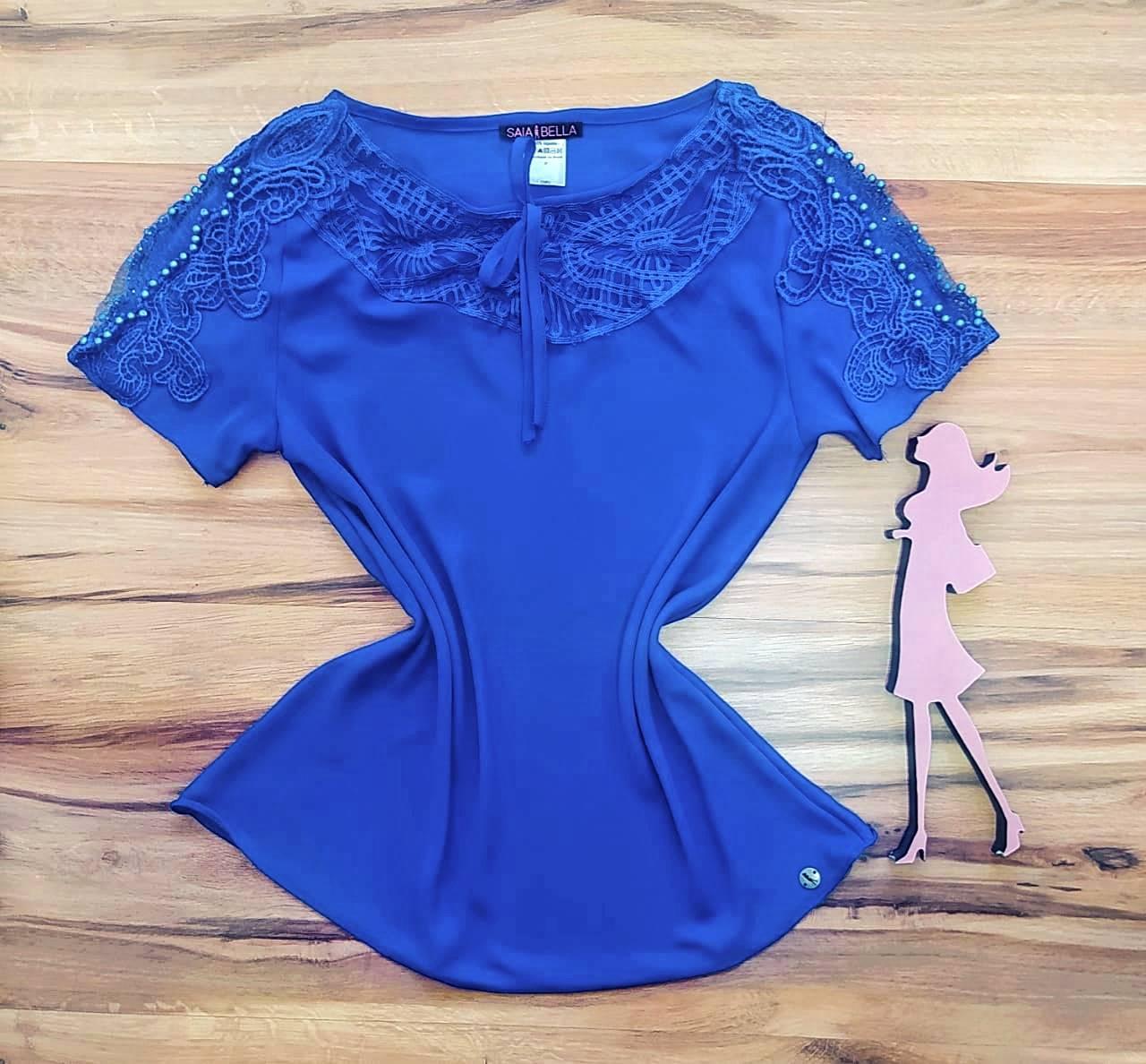 Blusa Ariana Saia Bella - SB700076 Azul Royal