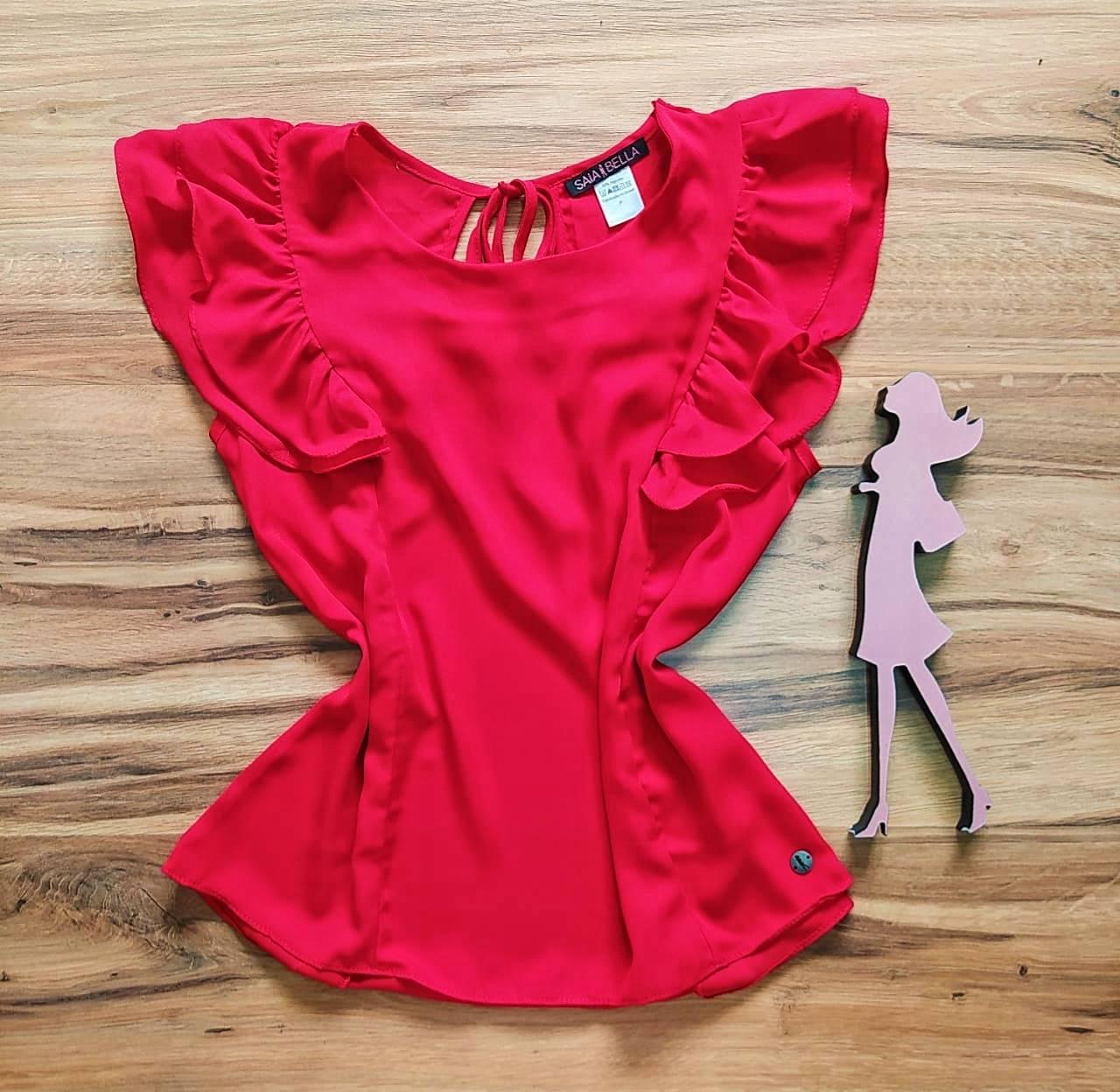 Blusa Beatriz Saia Bella - SB51074140 vermelho