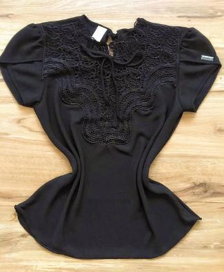 Blusa Bianca de Renda Saia Bella - SB9981 preto