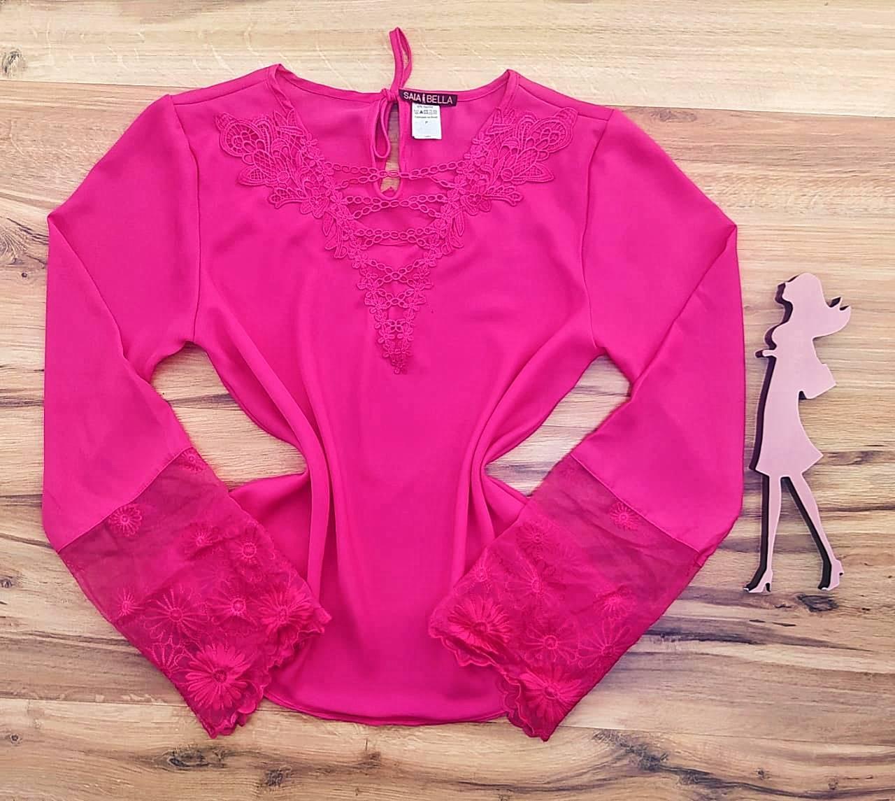 Blusa Damaris Saia Bella - SB700077 Pink